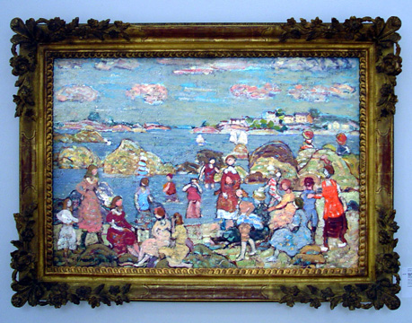 """The Seashore"" by Prendergast"