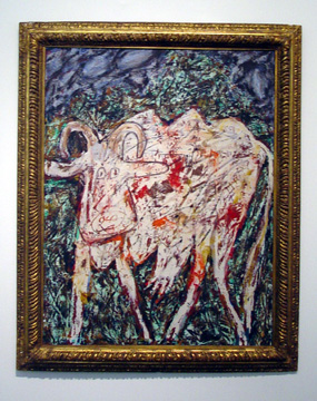 """Vache La Belle Muflée (Cow with the Beautiful Muzzle)"" by Jean Dubuffet"