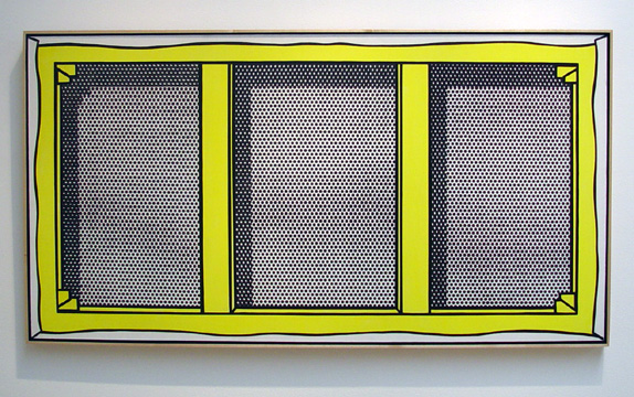 """Stretcher Frame with Vertical Bars"" by Roy Lichtenstein"