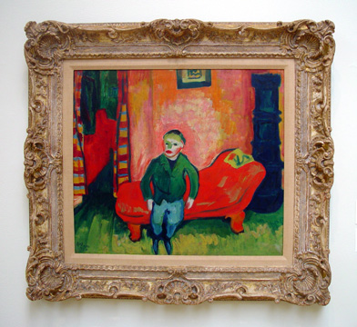 """Boy on a Sofa"" by Pechstein"