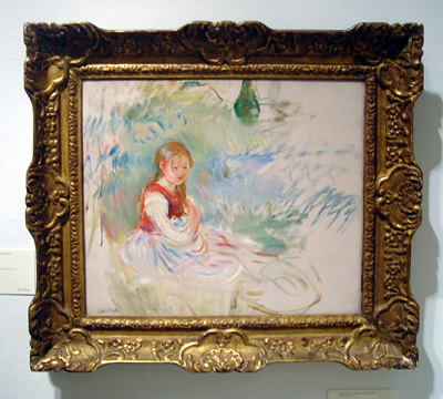 """Petite Fille Assise Dans L'herbe"" by Morisot"