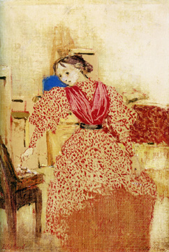 """Demoiselle en Rouge"" by Vuillard"