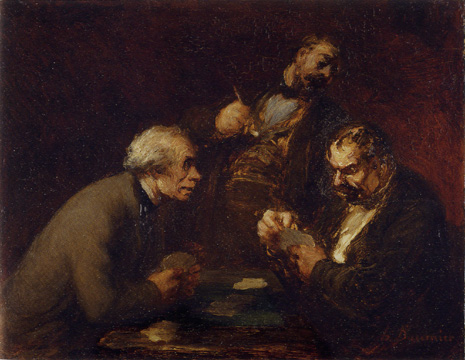 """Jouers de Cartes"" by Daumier"