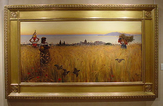 """Women in the Wheat Fields, Anacapri,"" by Charles C. Coleman"