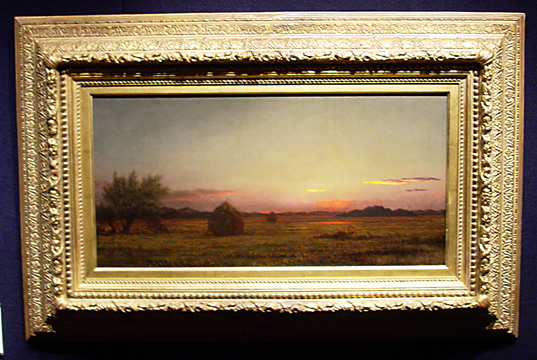 """Jersey Meadows with Ruins of a Haycart"" by Heade"