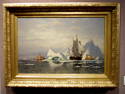 """Artic Whaler Homeward Bound Among the Icebergs"" by Bradford"