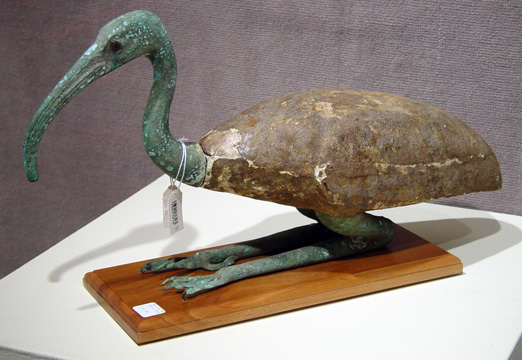 Egyptian ibis sculpture