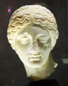 Roman marble head of Venus