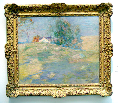 """Golden landscape"" by Twachtman"
