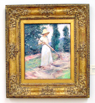 """Girl Raking Hay"" by Theodore Robinson"