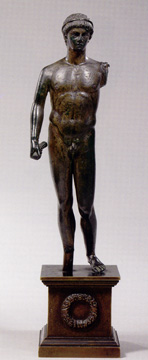 Bronze statue of Hermes