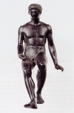 Bronze figure of Hermes seated