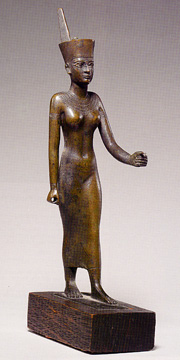bronze figure of Goddess Neith