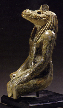 Egyptian steatite figure of Sobek