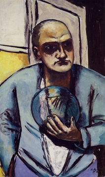 Self-portrait with Crystal Ball by Beckmann