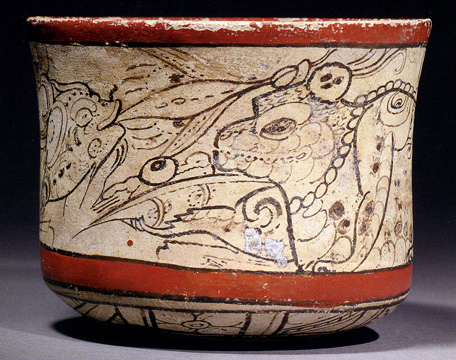 Mayan painted bowl