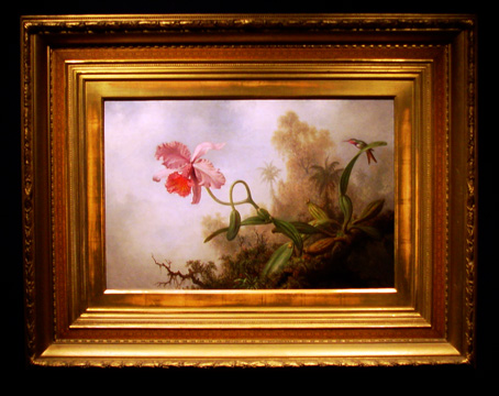 """An Orchid with an Amethyst Woodstar"" by Heade"