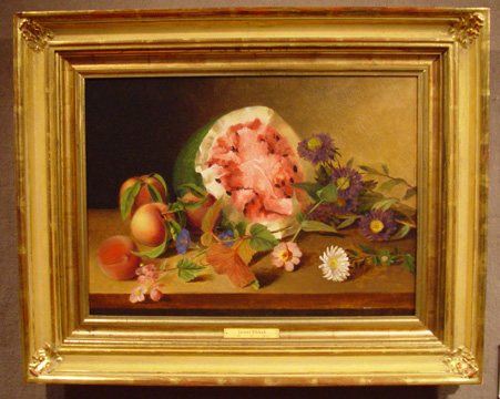 """Still Life with Watermelon"" by James Peale"
