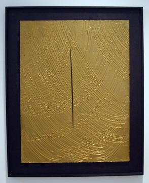 """Coupure"" by Lucio Fontana"