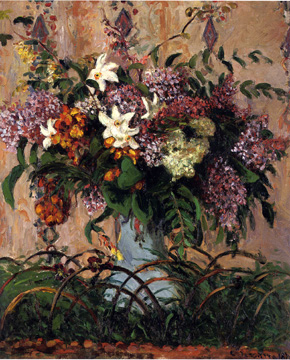 """Bouquet de lilas"" by Pissarro"
