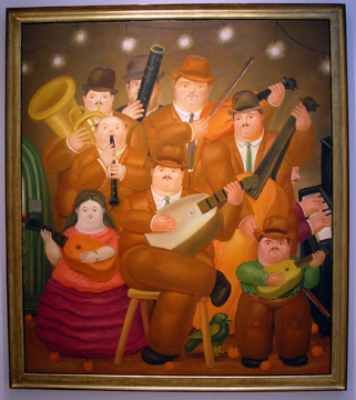 """The Musicians' by Botero"