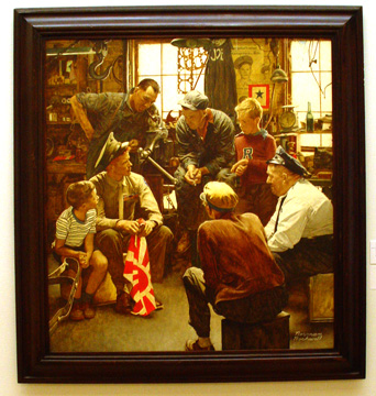 """Homecoming Marine"" by Rockwell"
