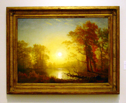 """Sunset"" by Bierstadt"