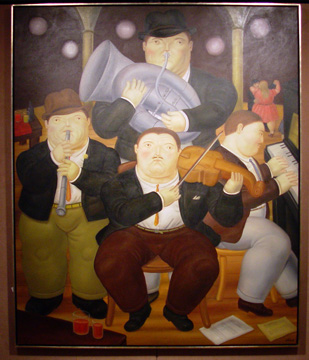 """Four Musicians"" by Botero"