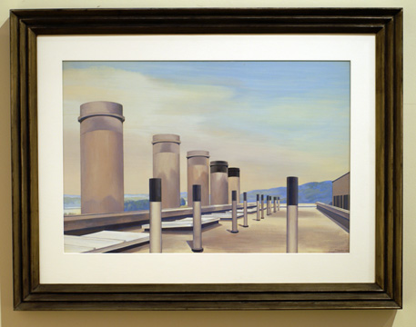 """Stacks in Procession"" by Sheeler"