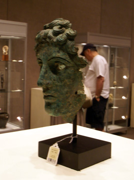 Roman bronze head of a man
