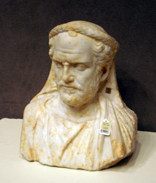 Roman bust of a priest
