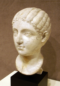 Roman marble portrait of a girl