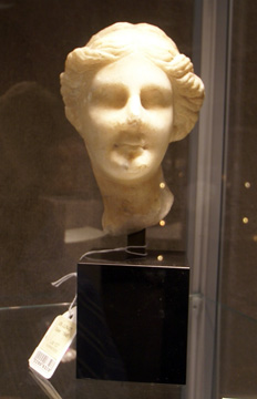 Greek marble head of a goddess