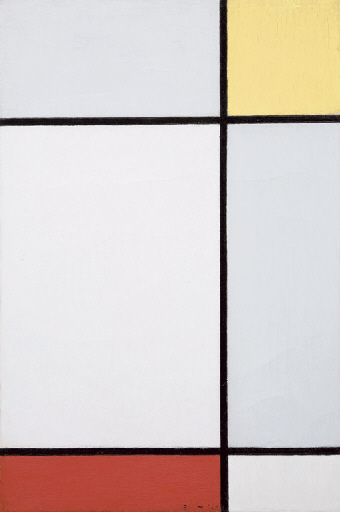"""Composition in Yellow and Red"" by Mondrian"