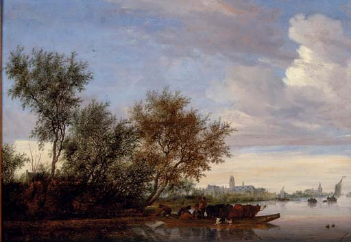 """Ferry Boat"" by van Ruysdael"