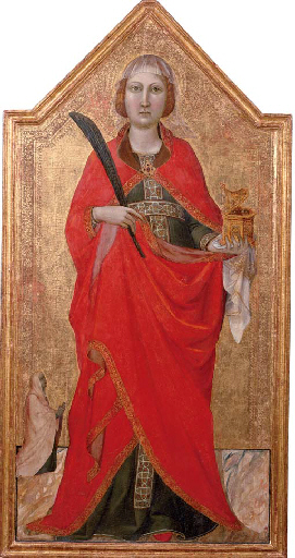 """Saint Lucy with a female patron"" by Casentino"
