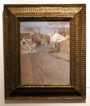 """Street in Barbizon, Sunset"" by Robinson"