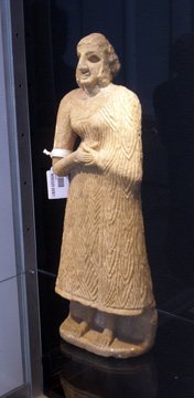 Sumerian alabaster figure of a worshipper