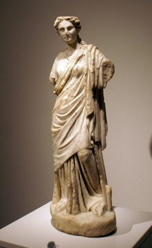 Roman marble figure of a muse
