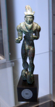 Elamite copper figure of a horned hero