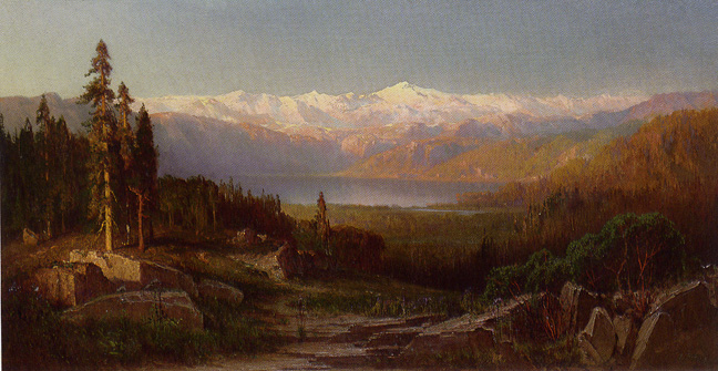 """View in the Sierra Nevadas"" by Hill"