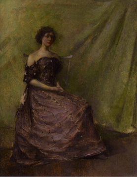 """Lady in a Purple Dress"" by Dewing"