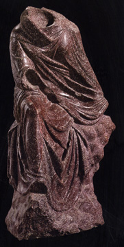 Porphyry statue of Tyche