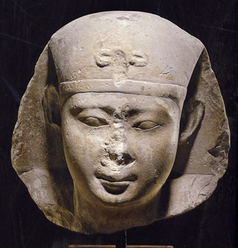 Portrait limestone head of Ptolemy II