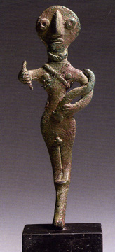 Canaanite bronze figure of a warrior god
