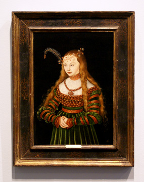 """Princess Sybille of Cleves"" by Cranach"