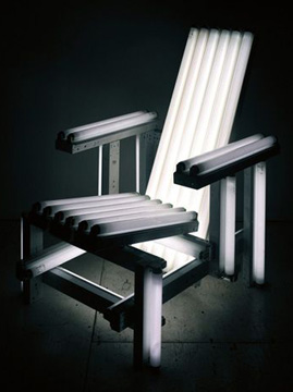 """White Electric Chair"" by Navarro"