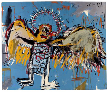 """Untitled (Fallen Angel)"" by Basquiat"