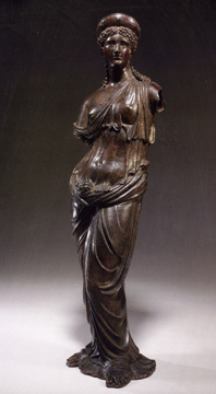 """Figure of a goddess,"" bronze"