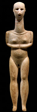 Cycladic figure of a man
